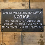 Decorative Wall Mounted Sign