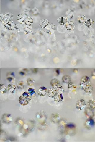 Swarovski 5328 Xilion Bicone Beads All Sizes Crystal * Crystal AB