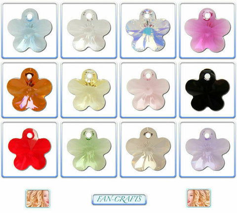 Swarovski Crystal Pendant 6744 Flower *All Sizes* *Many Colours*