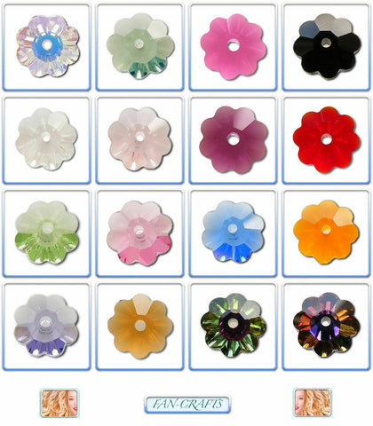 Swarovski Crystal Beads 3700 Flower 6mm & 8mm & 10mm * Many Colours *