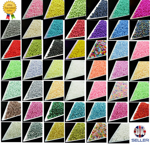 60 Colors * Seed Beads-Size 11/0-Approx 2mm-DIY Jewellery Making -Craft(20g/Bag)