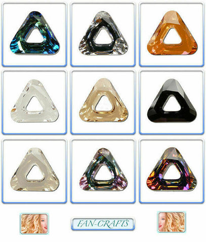 Swarovski Crystal Pendant 4737 Cosmic Triangle 14mm * Many Colours *