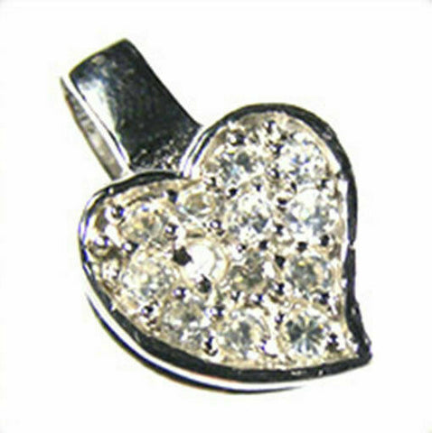 925 Sterling Silver Heart Pendant Bail 17x10mm H130