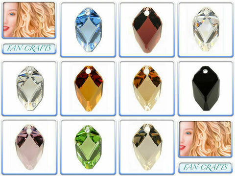Swarovski Crystal Pendant 6650 Cubist 22mm *Many Colours*