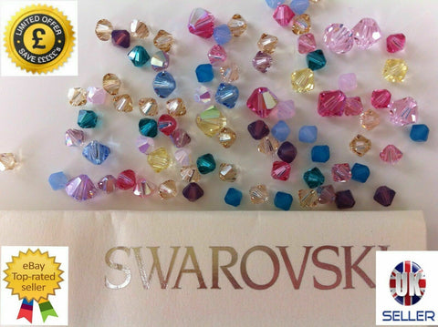 24pcs Genuine SWAROVSKI 5328 Xilion Bicone Crystal Beads * Many Colours*- 4mm