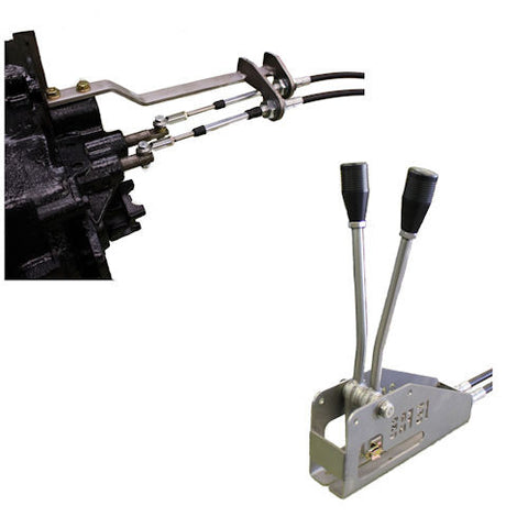 Cable Shifter Double, Jeep CJ D20, Buggy Style P/N BUGCJ20