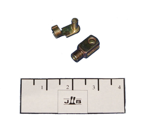Clevis, Cable End, 1/4-28, short W/spring pin P/N CLS