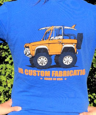 Lady's V-neck Tee Orange Bronco