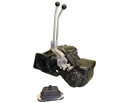 NP-205 Ford style Stainless Steel Twin-Stick Shifter W/boot P/N NP205F