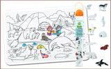Colour Me Mats x Safari Ltd - Arctic Expedition Toob Bundle - Reusable Silicone Colouring Mats