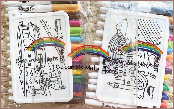 Colour Me Mats - PVC Zipper Bag for our Reusable Silicone Colouring Mats