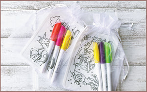 Colour Me Mats - Organza Bag for our Party Packs