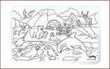 [PREORDER] Colour Me Mats - Arctic Expedition - Reusable Silicone Colouring Mats