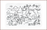 Colour Me Mats Children's Classic Stories - Chicken Licken - Reusable Silicone Colouring Mats