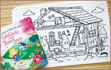 Colour Me Mats Children's Classic Stories - Goldilocks and the Three Bears - Reusable Silicone Colouring Mats