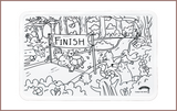 Colour Me Mats Children's Classic Stories - The Tortoise & the Hare - Reusable Silicone Colouring Mats