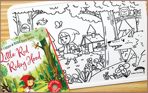 Colour Me Mats Book Bundle - Little Red Riding Hood - Reusable Silicone Colouring Mats