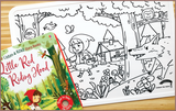 Colour Me Mats Children's Classic Stories - Little Red Riding Hood - Reusable Silicone Colouring Mats