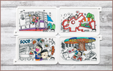 Colour Me Mats Book Collection - Timmy & Tammy On the MRT