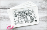 Timmy & Tammy X Colour Me Mats - Around Our Neighbourhood - Reusable Silicone Colouring Mats