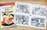 Timmy & Tammy X Colour Me Mats Book Bundle - Around Our Neighbourhood - Reusable Silicone Colouring Mats