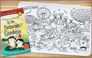 Timmy & Tammy X Colour Me Mats Book Bundle - Around Our Island - Reusable Silicone Colouring Mats