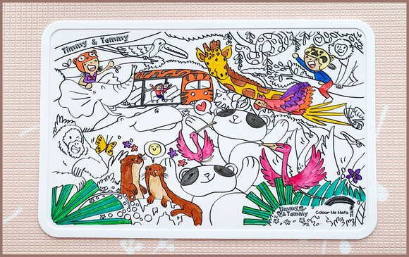 Timmy & Tammy X Colour Me Mats - Rediscovering our Wildlife Reserves - Reusable Silicone Colouring Mats