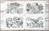 Colour Me Puzzle Mats - Magical Unicorns & Fairies - Reusable Silicone Colouring Mats