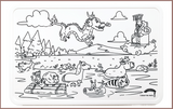 Colour Me Mats CNY Special - The Great Race - Reusable Silicone Colouring Mats