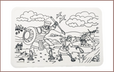 Colour Me Mats Bible Stories - David and Goliath - Reusable Silicone Colouring Mats