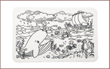 Colour Me Mats Bible Stories - Jonah and the Big Fish - Reusable Silicone Colouring Mats