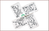 Colour Me Puzzle Mats - Land of Dinosaurs - Reusable Silicone Colouring Mats
