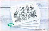Colour Me Puzzle Mats - Mermaids' Tale - Reusable Silicone Colouring Mats