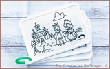 Colour Me Puzzle Mats - The Princess and the Dragon - Reusable Silicone Colouring Mats
