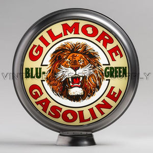 "Gilmore Blu-Green 15"" Gas Pump Globe with Steel Body"