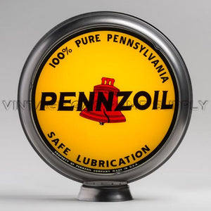 "Pennzoil 15"" Gas Pump Globe with Steel Body"