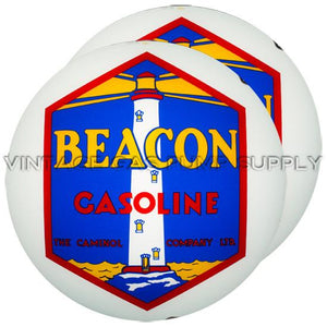 "Beacon (Blue) 15"" Gas Pump Globe with Steel Body"