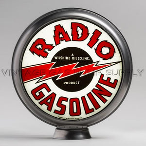 "Radio Gas 15"" Gas Pump Globe with Steel Body"