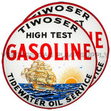 "Tiwoser Tidewater Oil Co. 15"" Pair of Lenses"