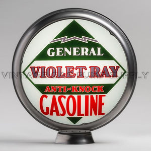 "General Violet Ray 15"" Gas Pump Globe with Steel Body"