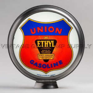 "Union Ethyl 15"" Gas Pump Globe with Steel Body"
