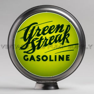"Green Streak 15"" Gas Pump Globe with Steel Body"