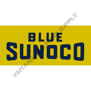 Blue Sunoco Flat Ad Glass