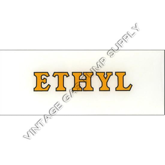 Ethyl Yellow with Black Outline Flat Ad Glass