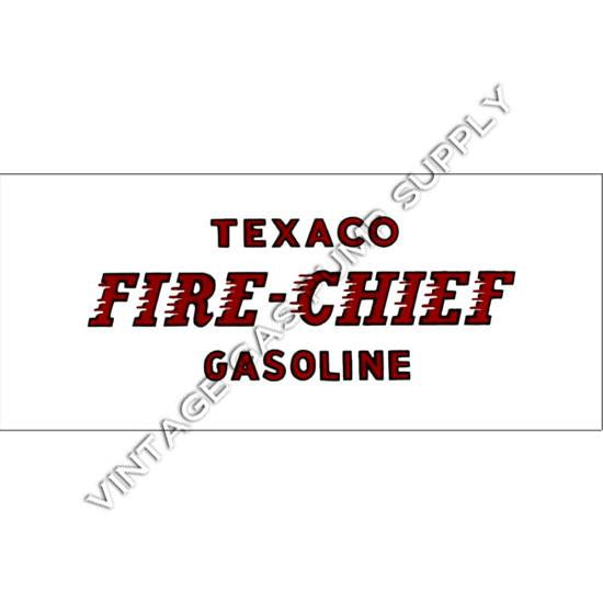 Fire Chief Flat Ad Glass