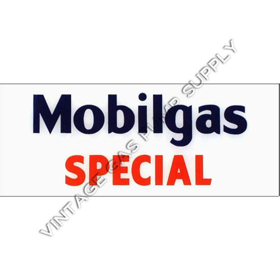 Mobilgas Special Flat Ad Glass