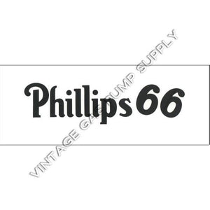 Phillips 66 Flat Ad Glass