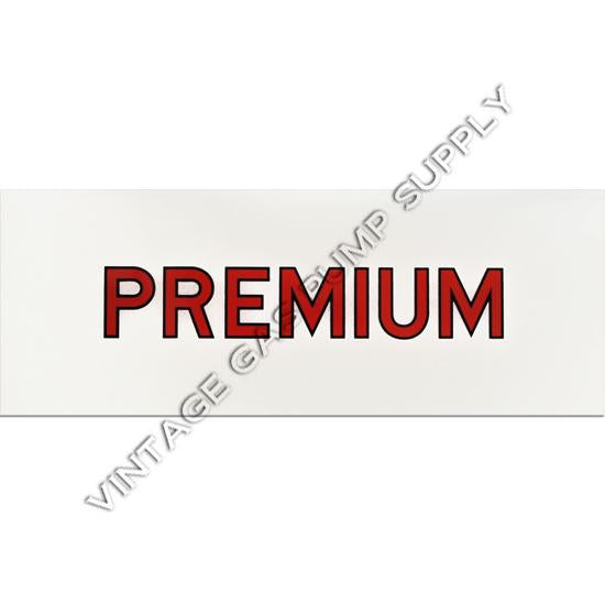 Premium Red Letter Flat Ad Glass