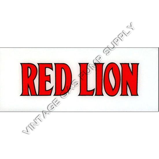 Red Lion (Gilmore) Flat Ad Glass