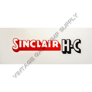 Sinclair H-C Flat Ad Glass